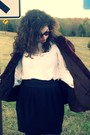 Dark-brown-vintage-from-clothing-exchange-nashville-coat-white-vintage-blouse-