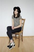 mellow yellow shoes - Zara jeans - H&M hat - H&M t-shirt