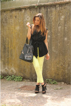 light yellow Zara pants