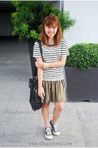 gold Cache Cache skirt - white H&M top