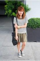 gold Cache Cache skirt - white H&M top