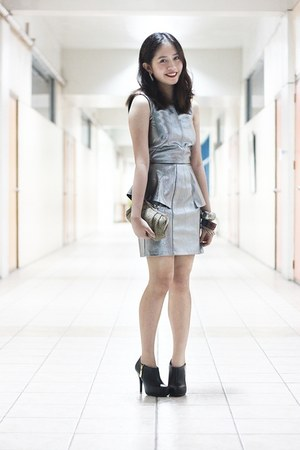 silver H&M dress - black Christian Siriano X Payless boots