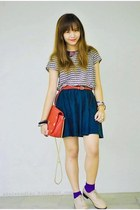 cream janilyn shoes - ruby red bag - ruby red sm dept belt