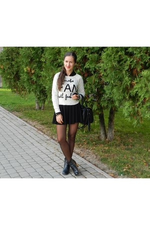 reserved sweater - H&M skirt