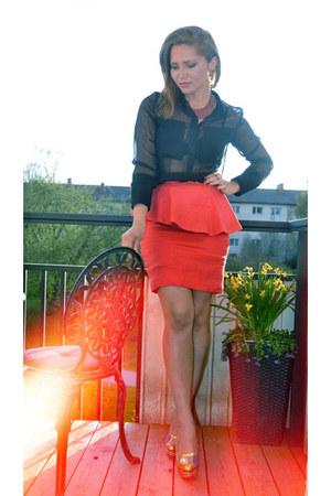 H&M Trend skirt - Charlotte Olympia heels