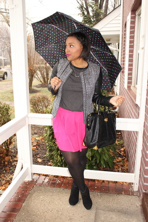 Forever 21 skirt - H&M jacket - JustFab bag - Totes accessories