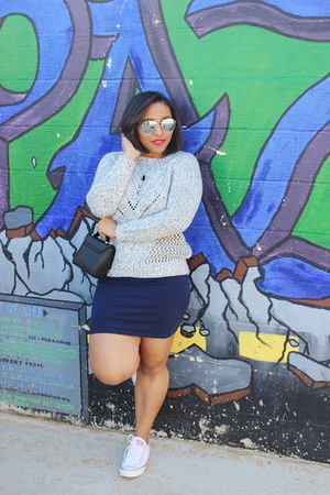 Forever 21 sweater - Forever 21 skirt - Converse sneakers