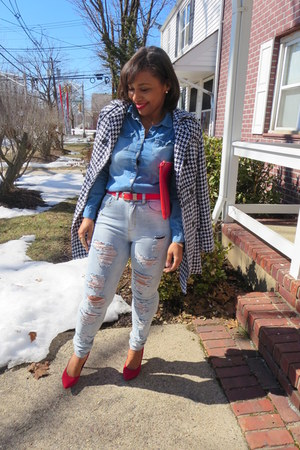 Forever 21 top - easy pickins jeans - Forever 21 bag - makemechic heels