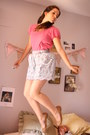 Light-blue-diksi-skirt-hot-pink-oysho-t-shirt