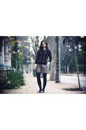 black Compania Fantastica shoes - brown pepa loves sweater - white COS shirt