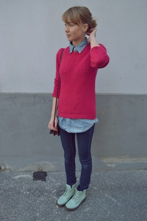 Doc Martens shoes - Mango sweater