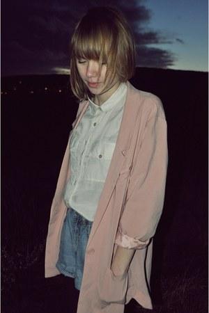 H&M blazer - Levis shirt - vintage shorts