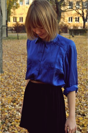vintage blouse - black Naf Naf skirt