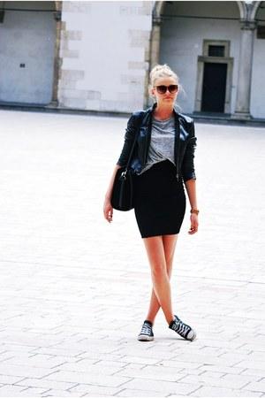 Orsay jacket - Parfois bag - Converse sneakers