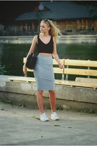 nike shoes - Parfois bag - caliope skirt - Zara top
