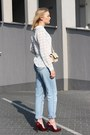 Calvin-klein-jeans-white-mango-shirt-zara-bag-topshop-heels