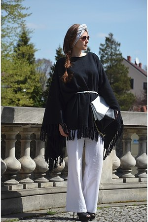 black poncho cardigan