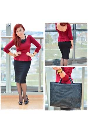 black Orsay skirt