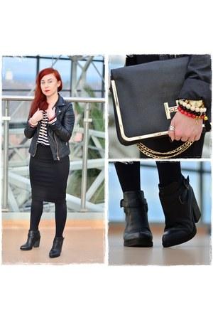 black pencil skirt Orsay skirt