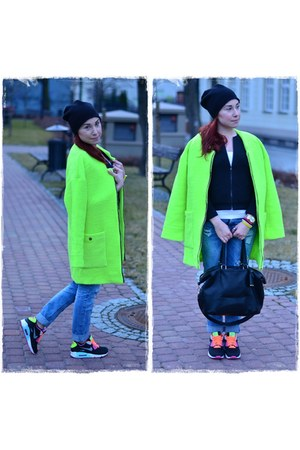 lime green Sheinside coat