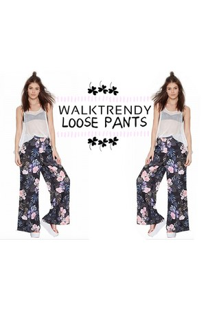 navy walktrendy pants