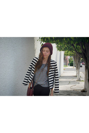 black striped Gap blazer - black Gap pants - silver stars Gap t-shirt