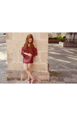 maroon sequins luluscom dress