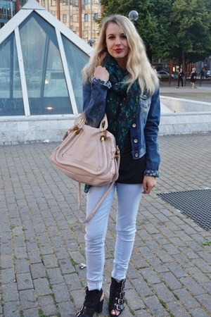 blue united colors of benetton jacket - light blue JBrand jeans