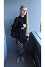 Winged-backpack-bag-dusty-pink-bershka-jacket-leopard-print-tk-maxx-leggings