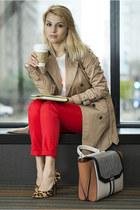 Zara coat - BCBGeneration shoes - bcbg max azria bag - Zara pants