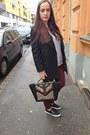 Black-h-m-coat-light-purple-primark-sweater-primark-bag