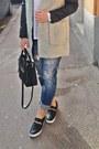 Fluffy-zara-coat-navy-boyfriend-jeans-pimkie-jeans-black-mango-bag