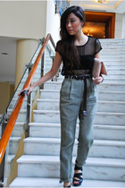 Urban Outfitters top - Bakers shoes - Mango pants - Rolex watch