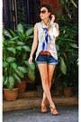 Versace-scarf-forever-21-shorts-michael-kors-sunglasses-celine-belt-fore