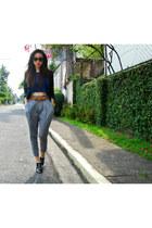Forever 21 top - Forever 21 blazer - cynthia rowley sunglasses - H&M belt