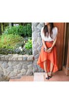 Forever 21 skirt - lace clutch Trousseau by Reshma bag - Zara heels
