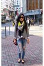 Forever-21-jeans-liz-claiborne-jacket-h-m-scarf-liz-claiborne-blouse