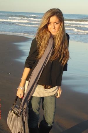 Zara jeans - Zara sweater - Mango coat - Zara scarf - Misako purse