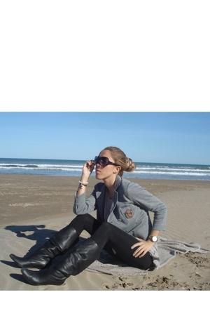 Topshop blazer - H&M leggings - Zara boots