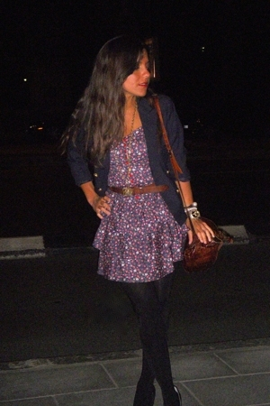 Zara dress - Burberry blazer - Massimo Dutti belt - vintage purse - Zara shoes -
