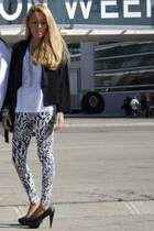 H&M leggings - Mango shoes - H&M t-shirt - H&M blazer