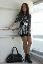 Zara top - H&M skirt - Zara boots - Aldo purse - Zara belt