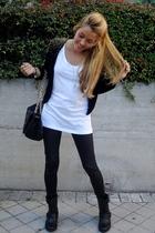 Zara boots - DAY A DAY purse - H&M jacket - H&M t-shirt