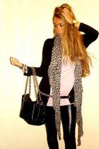 Zara jacket - American Apparel leggings - calvin klein shoes - DAY A DAY purse