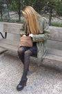 Black-zara-shoes-black-h-m-tights-black-h-m-dress-green-zara-coat-beige-