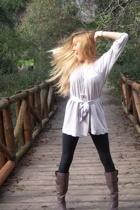 H&M leggings - Zara dress - Zara boots