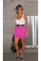 Topshop skirt - vintage belt - Steve Madden shoes - Aldo purse - Massimo Dutti t