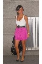 Topshop skirt - vintage belt - Steve Madden shoes - Aldo purse - Massimo Dutti t