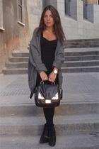 Hackett sweater - H&M dress - Zara boots - Bimba & Lola purse