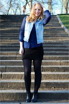 H&M vest - Mango dress - Primark blouse - Madden Girl heels